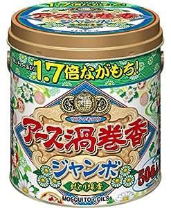 アース製薬 アース渦巻香 蚊取り線香 ジャンボ 50巻缶入