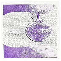 ビバリーターナークリスマスデザイン–PlumパープルホリーリーフデザインSeason S Greetings–グリーティングカード Set of 6 Greeting Cards