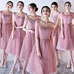 b127d9a9e5cd2  ノーブランド品 ブライズメイド ドレス ロング丈 二次会 パーティー 6タイプ ドレス ドレス 結婚式 オフショルダー 体型カバー Aラインドレス  フォーマル.