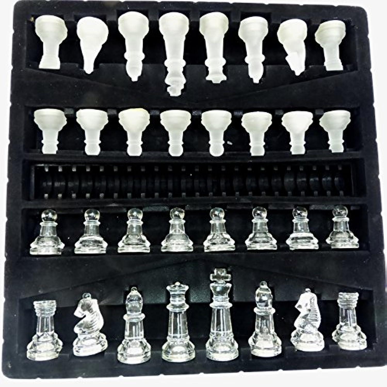クリスタルガラスチェスセット 特大 CP-029 クリスタルチェス CHESS チェスボード35cm 箱なし 訳あり