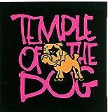ピンク&ブラックTemple of the Dogバンドロゴステッカー/デカール