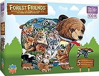 MasterPieces Forest Friends Shaped - 100 Piece Kids Puzzle [並行輸入品]