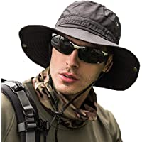 サファリハット メンズ 【UPF50+ UVカット率99% 日焼け防止】ハット 帽子 2WAY 大きいサイズ つば広 軽…