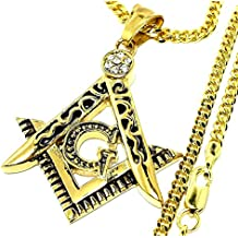 [ZIG's] of {G} champion sparkling chest Shock GOLD (color) High quality STAINLESS = Kihei CHAIN FREE-MASON ZIG's signature with the cross (fmnsu02mtg + cq) (60)