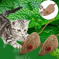 JWBOSSマウス形状キャットミントボールキャットニップペットキャットキティのおもちゃでコーティングされたボール効果的な絵 -