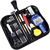 COSVER 147 PCS Watch Repair Tool Kit Case Opener Spring Bar Tool Set Bonus A Hammer