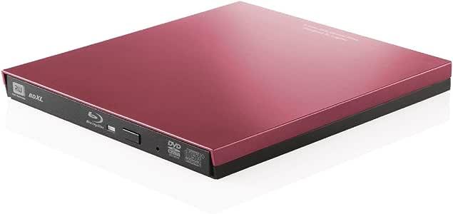 ロジテック ブルーレイドライブ 外付け Blu-ray UHDBD USB3.0対応 再生 編集 書込ソフト付 レッド LBD-PVA6U3VRD
