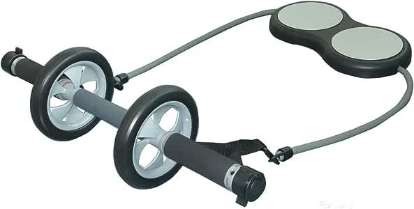 腹筋ローラー エントリーマッチョ アシスト機能付 (4段階負荷調節 サポートチューブ 膝パッド付) アブホイール エクササイズローラー T0014