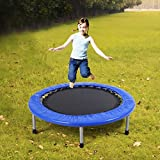 100cm Mini Band Trampoline Safe Elastic Exercise Workout w/ Padding & Springs