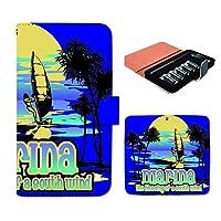 (ティアラ) Tiara プルームテック ケース ploom tech 専用 手帳型 カバー サーフィン ボード SURF 海 FP169040000002 サーフ 本体 充電器 たばこ カプセル 全部 収納 禁煙