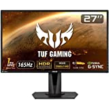 ASUS TUF Gaming ゲーミングモニター VG27AQ 27インチ WQHD HDR IPS 165Hz 1m…
