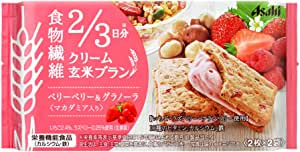 アサヒグループ食品 クリーム玄米ブランベリーベリー&グラノーラ 72g×6袋