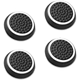 Fosmon Silicone Thumb Stick Analog Controller Grip Caps (4 Pack / 2 Pair) for Xbox One/One X, 1 S, 360, PS4, PS3, Wii U, Wii