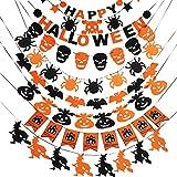 Yosoo 9種類 ハロウィン デコレーション ハロウィン飾り ガーランド 3m 壁 飾り吊り インテリア 吊るし かぼちゃ くも コウモリ ドクロ お化け 祭り 学園祭 イベント パーティー 店舗 ショップ 装飾