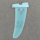 ウィンドサーフィン用 G10 CNC グラースファイバー FREERIDE フィン by Scoop (30cm ライトブルー パワーボックス用)