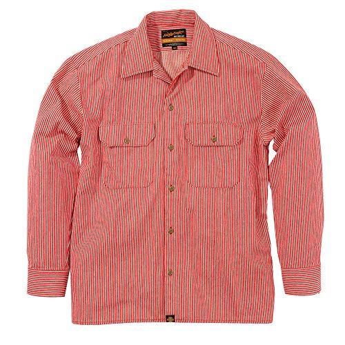 [해외]Henly Begins (헨리 비긴즈) NHB-1503 워크 셔츠 히코리 레드 L 93158/Henly Begins (Henry Begins) NHB-1503 Work Shirt Hickory Red L 93158