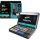 Mont Marte Calligraphy Set, 33 Piece. Includes Calligraphy Pens, Calligraphy Nibs, Ink Cartridges, Introduction Booklet and E