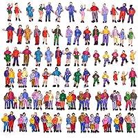 情景コレクション 人間 人形 人物 人間フィギュア塗装人 1:87~100 100本入り 箱庭 装飾 鉄道模型 建物模型 ジオラマ 教育 DIY