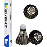 KEVENZ 12-Pack Badminton Shuttlecocks with Great Stability and Durability, High Speed Badminton Birdies Balls