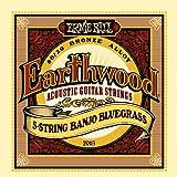 【国内正規輸入品】ERNIE BALL アーニーボール バンジョー弦 2063 Earthwood 80/20 Bronze 5-String Banjo Bluegrass アースウッド 5弦バンジョー ブルーグラス