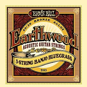 【正規品】 ERNIE BALL バンジョー弦 ブロンズ 5弦 ブルーグラス (9-11-13-20W-9) 2063 Earthwood 80/20 Bronze