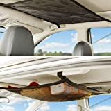 CEISPOB SUV Car Ceiling Storage Net Pocket, Car Roof Bag, Interior Cargo Net Breathable Mesh Bag, Adjustable Sundries Storage