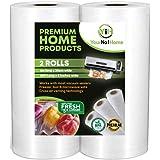 YourNo1Home - Sous Vide Vacuum Sealer Rolls - Commercial Grade Food Saver Bags Rolls - Honeycomb Embossed - BPA Free Vacuum S