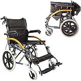 車椅子 介助型 折り畳み式車椅子 軽量アルミ製 簡易車椅子 ノーパンクタイヤ 車いす 介護・介助用 くるまいす 背折れタイプ 介護車椅子 軽い 軽量折りたたみ車椅子 車イス 丈夫 折りたたみ車いす 背面ポケット付き