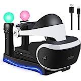 LIDIWEE PSVR スタンド VR多機能スタンド PS Moveコントローラ*2 充電 VRコネクタ VRヘッドセ…