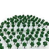 森林 選べる サイズ 【DauStage】 Nゲージ ジオラマ 材料 鉄道 建築 模型 用 樹木 風景 緑 100本 (01,緑 3.0㎝ 100本)