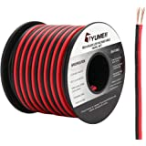 TYUMEN 40FT 18 Gauge 2pin 2 Color Red Black Cable Hookup Electrical Wire LED Strips Extension Wire 12V/24V DC Cable 18AWG Fle