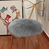 Eanpet Faux Sheepskin Chair Pad Round Cover Seat Cushion Pad Soft Fluffy Area Rug for Area Rugs for Chair Seat Pad Couch Pad