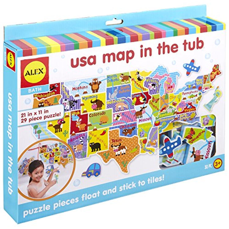 Alex Toys Rub a Dub USAマップin the Tub