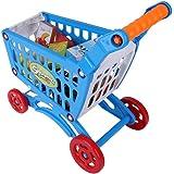 おもちゃのショッピングカート 組み立て式 手押し車 子供向け 知的発達 おもちゃの食べ物付き 子供向け買い物カートおもちゃ おもちゃの食べ物フルーツ野菜 (.おもちゃの食べ物付き)