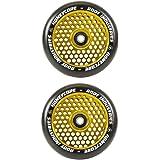 Honeycore Wheels 110mm - 120mm Pro Scooter Wheels Pair - Fits Most Setups - 24mm x 110mm - 120mm - Bearings Installed - 90 Da