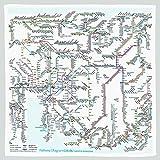 東京カートグラフィック 鉄道路線図ハンカチ 中部 英語 RHCE