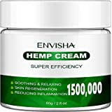 Natural Hemp Cream Extract for Soothing-Knees, Joints, Back, Hips, Neck, Knees, Muscles, Contains Powerful-MSM, Hemp Oil Extr