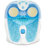 Conair Active Life Waterfall Foot Spa with Lights and Bubbles, Blue