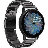 VICARA for Galaxy Watch Active2 44mm/Galaxy Watch Active2 40mm バンド ステンレス製 時計バンド 20mm 交換用 for ギャラクシー ウォッチ Active 2 44mm ビジネス風