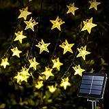 KeShi 40FT 100LED Solar Star String Lights, 8 Modes Solar Powered Twinkle Fairy Lights, Waterproof Star Twinkle Lights for Ou