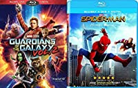 Marvel Blu-ray Bundle Spider-Man: Homecoming (Blu-ray + DVD + Digital) and Guardians of the Galaxy Vol. 2 (Blu-ray + DVD + Digital) Cinematic Universe Super Hero Double Feature【DVD】 [並行輸入品]