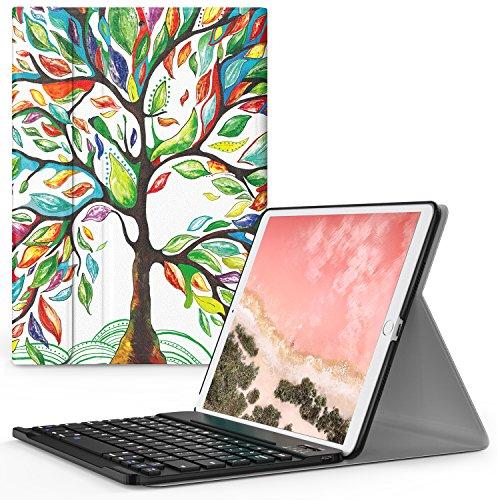 iPad Pro 10.5 ケース - ATiC Apple iPad Pro 10.5 2017用 Bluetoothキーボード型フォリオケース Lucky TREE