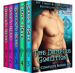 The Vampire Coalition: The Complete Collection Boxed Set (Ethan's Mate, Rory's Mate, Nathan's Mate, Liam's Mate, Daric's Mate) by [Scott, J. S.]