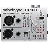 Behringer ケーブルテスター XLR/TS,TRSフォン/MIDI/TT/RCAケーブル対応 9V電池動作 テストトーン内蔵 CT100 銀
