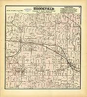 Historicマップ| Waukesha郡、ウィスコンシン187321|アンティークヴィンテージReproduction 39in x 44in 5165620_3944