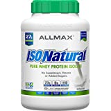 ALLMAX Nutrition IsoNatural, Pure Whey Protein Isolate, The Original, Unflavored, 5 lbs (2.25 kg)