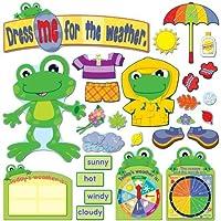 Carson Dellosa Funky Frog Weather Bulletin Board Set (110208) [並行輸入品]