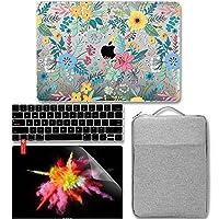 ‣4イン1バンドルMacBook Pro Touch Bar 13 (2016, 2017, 2018) ソフトタッチマットハードケース、シリコンキーボードカバー付き撥水スリーブ クリアスクリーンプロテクター付き - Cheery Fresh Floral