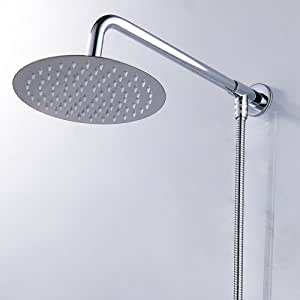 tropical シャワーヘッド高圧力ラウンド 降雨シャワーヘッド 節水 バス用品 取り付け簡単 快適なシャワー ステンレススチール 超薄型雨シャワーヘッド 5サイズ選べ (12インチ)