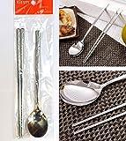 [KITSM SENSE] ステンレススチールスプーンと箸1セット / Stainless Steel Spoon and Chopsticks 1Set / 竹の模様 / Bamboo pattern / 食器 / tableware / 韓国台所 / Korean Kitchen [並行輸入品]